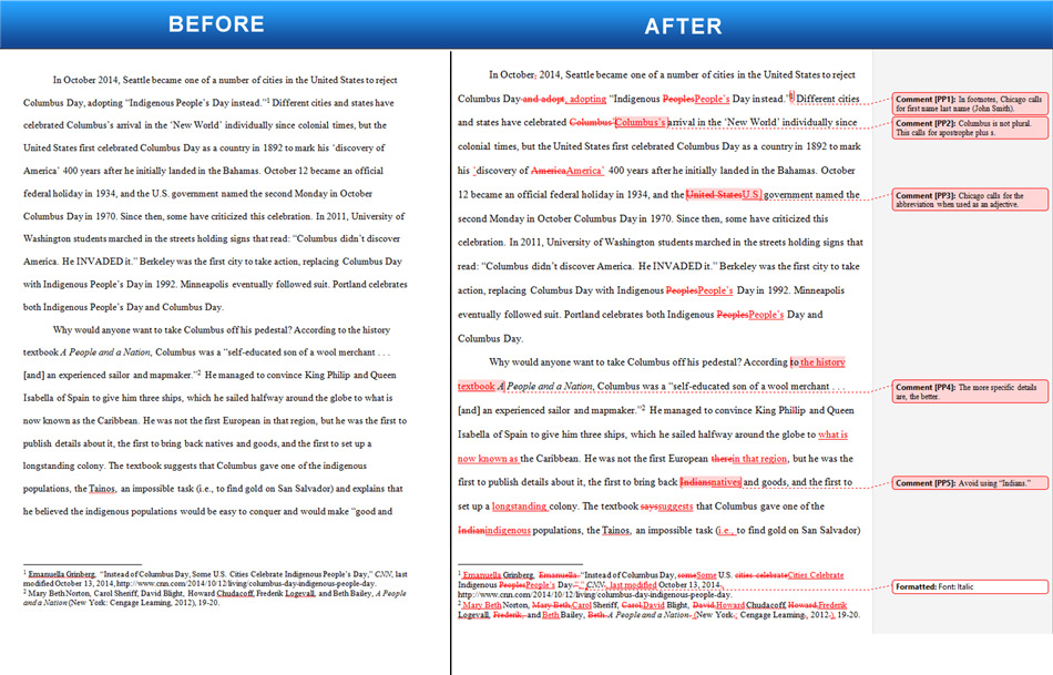 Essay proofreading and editing samples